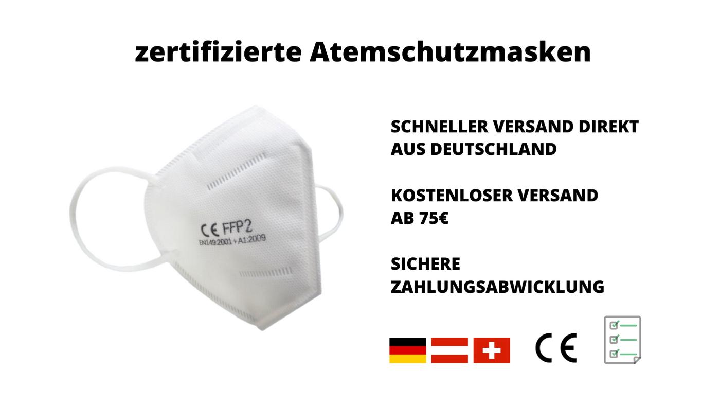 zertifizierte Atemschutzmasken FFP2 Fan-Material